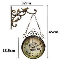 European Style Wall Charts Double-Sided Creative Clock Fashion Living Room Modern Design Kitchen 50Q121