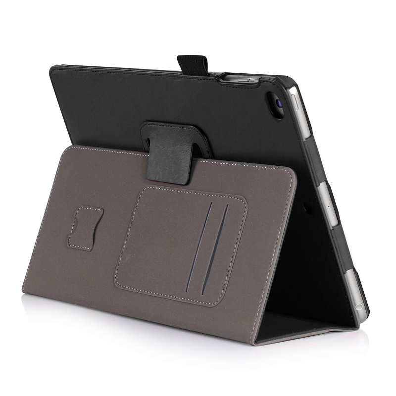 Solque Premium PU Leather Tablet Smart Cover Case for iPad 2017 9.7 inch A1822 A1823 Slim Card Holder Flip Cases with Handhold 1 pcs diy car styling new pu leather free punch with cup holder central armrest cover case for ford 2013 fiesta part accessories