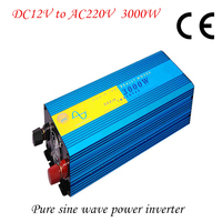 3000W Off Grid Pure Sine Wave Power Inverter DC 12V TO AC 220V With CE ROHS