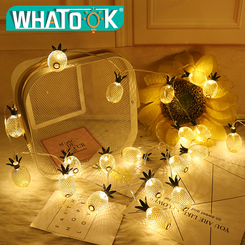 5m 40pcs Pineapple String Lights New Year Wedding Party Garland Led Light for Outdoor Christmas Decoration Warm White Lighting outdoor lighting 2 5m high inflatable lighting tube infaltable lamp post light pole for event party wedding decoration