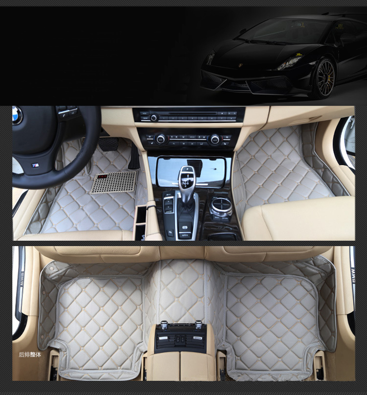 5 seat left steering wheel car floor mats for VOLVO XC60XC90 S60 S60L S80L Fiat Andra Suzuki Rover sport mitsubishi outlander free shipping leather car floor mat carpet rug for hyundai ix25 creta only for left steering wheel car