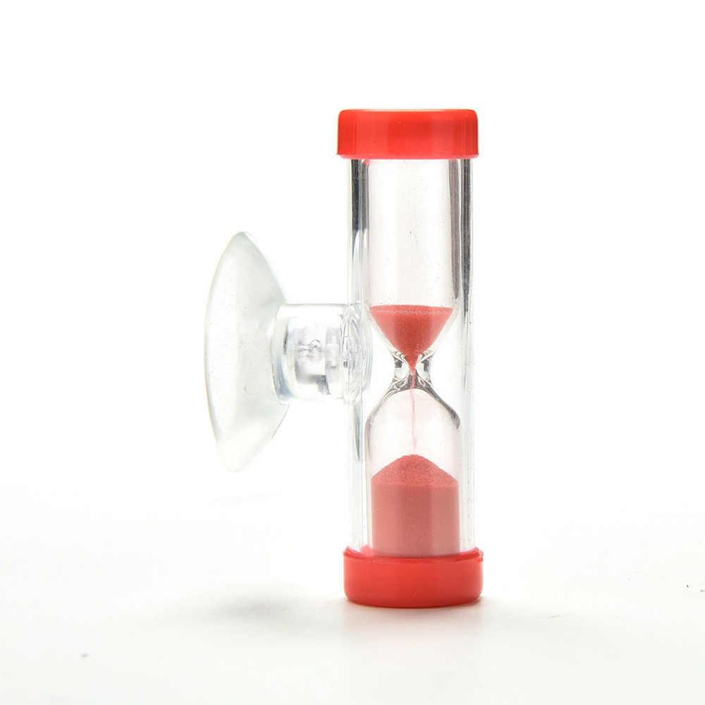 3 minutos ampulheta areia temporizador relógio de sandglass para escova de dentes chuveiro temporizador com ventosa criança brinquedos aprendizagem matemática