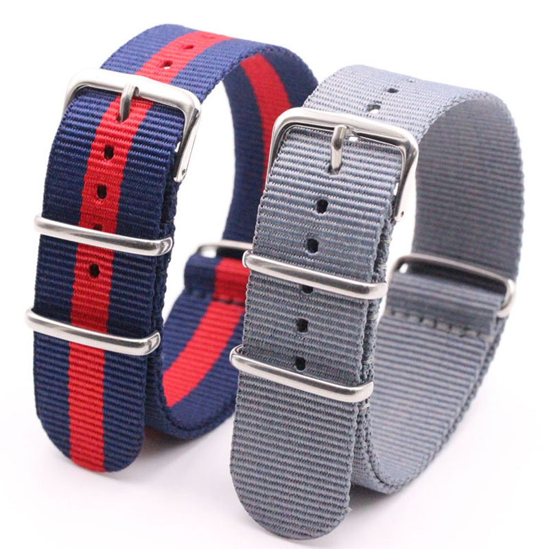 Watchband Wholesale Watches Men Nylon Nato Strap  WatchBand Waterproof Watch Strap on For hours