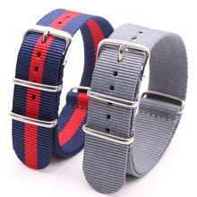 Watchband Wholesale Watches Men Nylon Nato Strap  WatchBand Waterproof Watch Strap on For hours hannah martin nato nylon canvas watchband black face japan quartz movement waterproof men watch wrist watch sarah watch fukavei