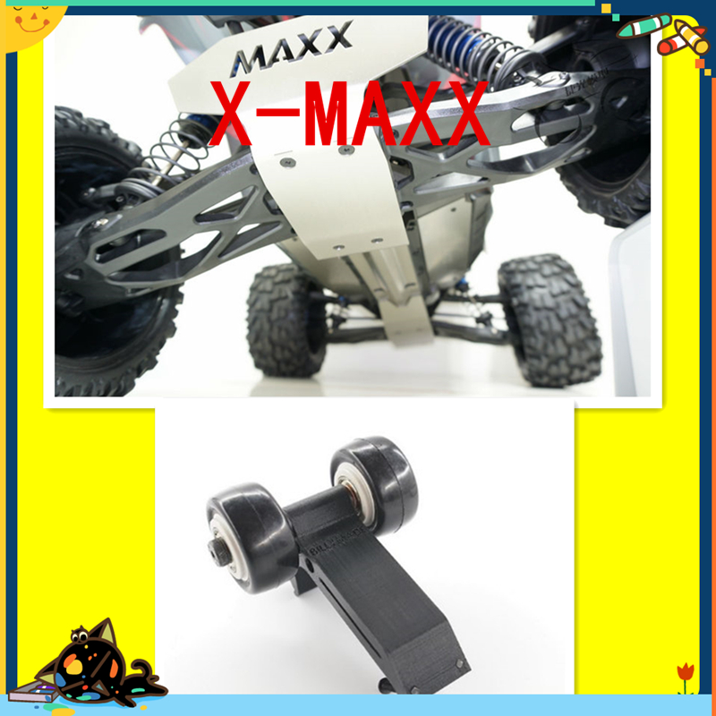 TRAXXAS X-MAXX Guard Spare Parts Metal protection plate + with Rise wheels traxxas x maxx upgrade spare part stainless steel metal chassis protection plate
