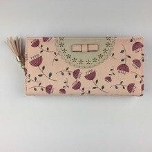 New Fashion Dandelion PU Leather Famous Designer Luxury Brand Women Travel Wallet Vintage Flower Female Clutch Purse Small Bag