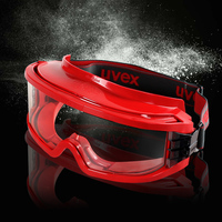 UVEX Safety Goggles Anti UV Dustproof Sporty Lab Goggles Anti impact Protective Eyewear Red Color Transparent PC Lens Eyeglasses