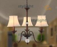3 cabeças pingente bola lâmpada sombra tecido país da américa lustres de quarto sala de jantar Bar ball pendant lamp chandelier dining bar light -