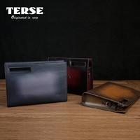 TERSE_Wholesale Prijs Handgemaakte Lederen mannen Aktetas Bordeaux Rood Lederen Luxe Tas Voor Mannen Clutch Bag Custom TS8639