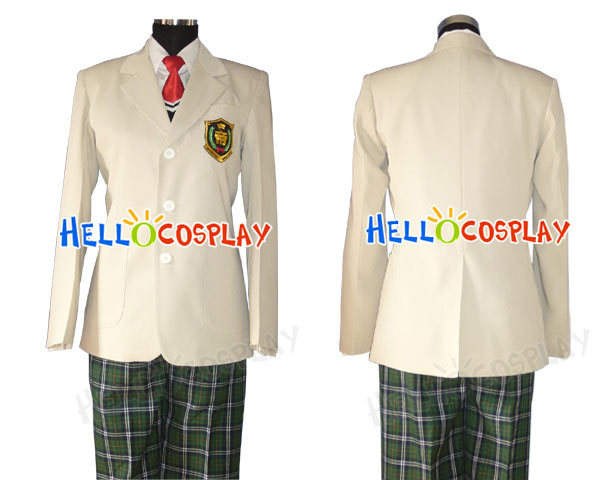 Japanese Anime Outfit Prince of HYOTEI costume School Boy Uniform H008