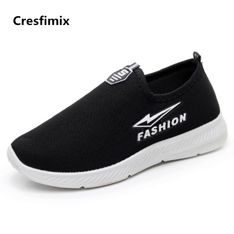 Cresfimix sapatos femininas women casual black breathable flat shoes lady cute soft & comfortable spring slip on shoes zapatos cresfimix women casual breathable soft shoes female cute spring