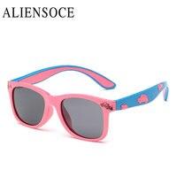 New Brand Children Cute Cartoon Car Relief Decoration Sunglasses Kids Polarized Sun glasses oculos espelhado