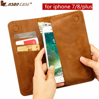 Jisoncase Genuine Leather Case For IPhone 7 4 7 Wallet Pouch Fundas For IPhone 7 Plus