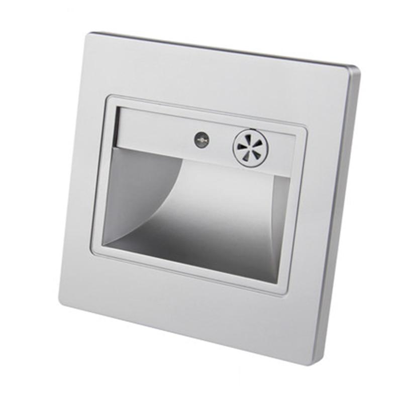 Bedroom Light Sensor Night Light Novelty Baby Kids Led Night Lamp Square Recessed Led Wall Lamps 1.5w Romantic Luminaire Sconce