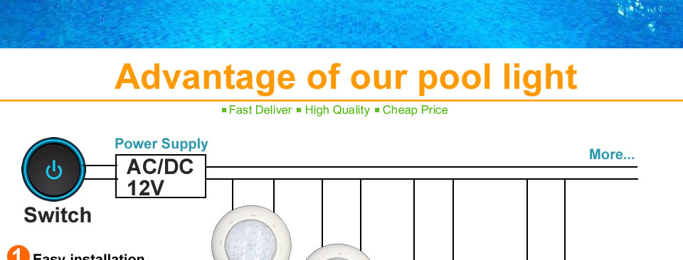 High Quality pool light