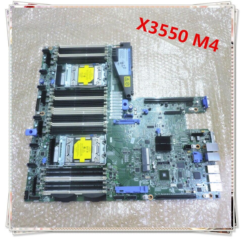 Для IBM X3550 M4 оригинальный сервера LGA2011 материнская плата 00J6192 00Y8640 00Y8375 94Y7586 (материнская плата только)