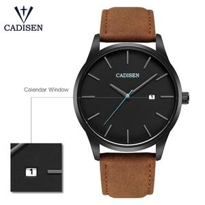 Image 3 - ساعة يد بنمط عسكري من العلامة التجارية CADISEN للرجال من الفولاذ المقاوم للصدأ ساعة يد كوارتز للأعمال الشهيرة مقاومة للماء