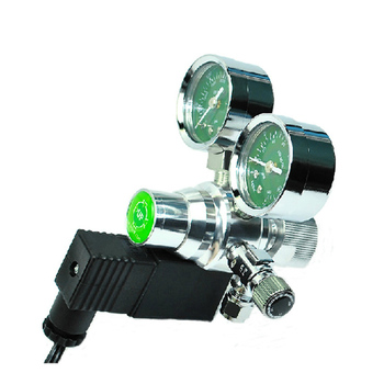 Dual Gauges CO2 System Regulator with Solenoid Magnetic Valve Control for Aquarium Fish Tank Water Plant Moss