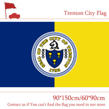 Free shipping 90*150cm 60*90cm Flag 3x5ft Trenton City Of New Jersey State 100d Polyester USA Banners