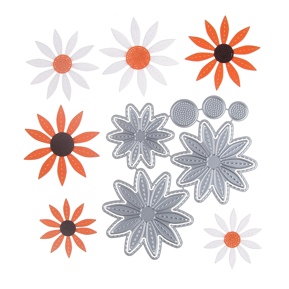 Gowing Daisy Metal Cutting Dies Stencils For Diy Scrapbookingphoto