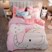Для девочек Постельное белье слон постельные принадлежности полный Размеры листов Подушка принцессы случае современные Постельное белье