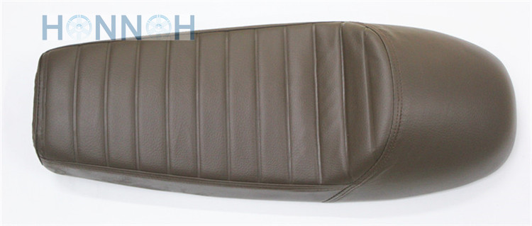 64cm Motorcycle Hump Cafe Racer Seat For Suzuki For Honda For <font><b>Yamaha</b></font> <font><b>SR400</b></font> <font><b>SR500</b></font> XS650 Waterproof ABS PU Leather Brown image