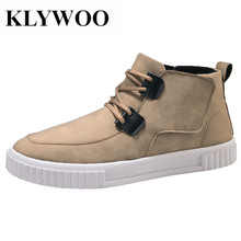 KLYWOO Hip Hop Men Shoes 2018 Winter New Lace-Up Leather Ankle Boots Men  Autumn. 3 Colors Available f29cfd503018