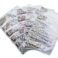 1440PCS Glass Rhinestones for   Nail   Art Multi-size Crystal   Nail   Rhinestone 3D   Nail   Art   Decorations   Strass Charms MJZ2098