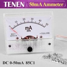 85C1 DC Аналоговый амперметр 0-50mA указатель тока измеритель напряжения измерительный усилитель Миллиамперметр панель для CO2 лазерная трубка источник питания