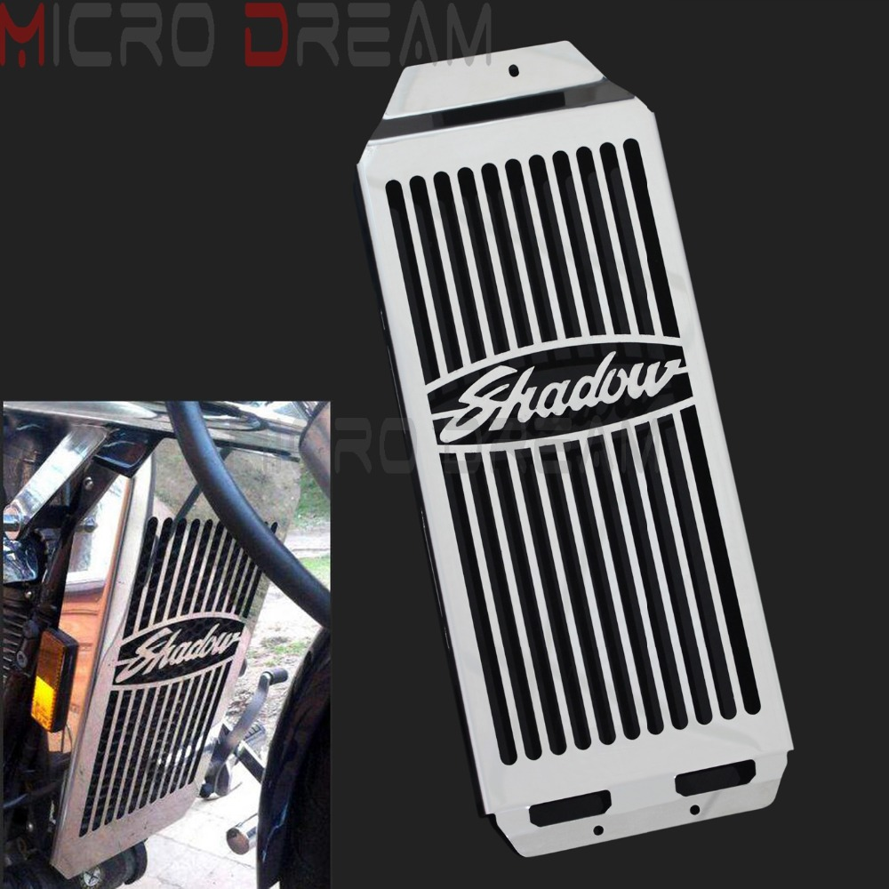 Motorcycles Radiator Grill Protector Stainless Steel Cover For Honda Shadow Aero VT400 / VT750 2004 2011