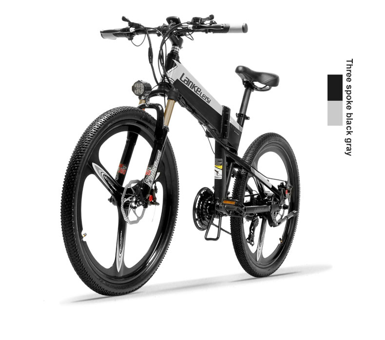 HTB1ForfXIfrK1Rjy1Xdq6yemFXaC - 26inch electric mountian bicycle folding  frame 48V  lithium battery hidden frame 400w high speed motor range 60-100km