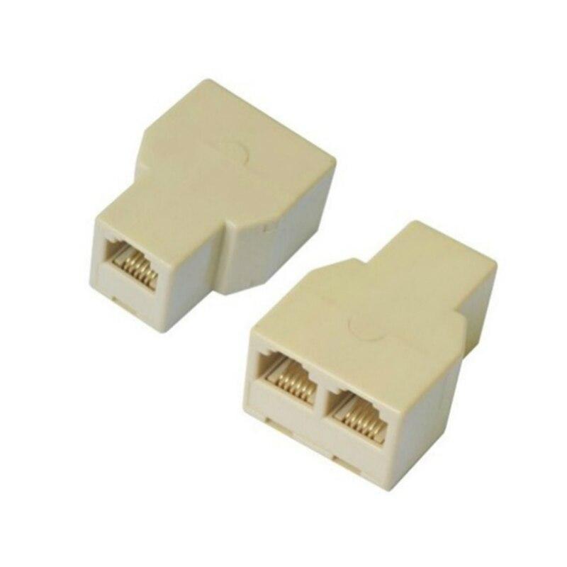 5 pcs RJ45 LAN Ethernet Splitter Adaptador de Conector Divisor CAT5 8P8C Rede Extender Ligue Coupler