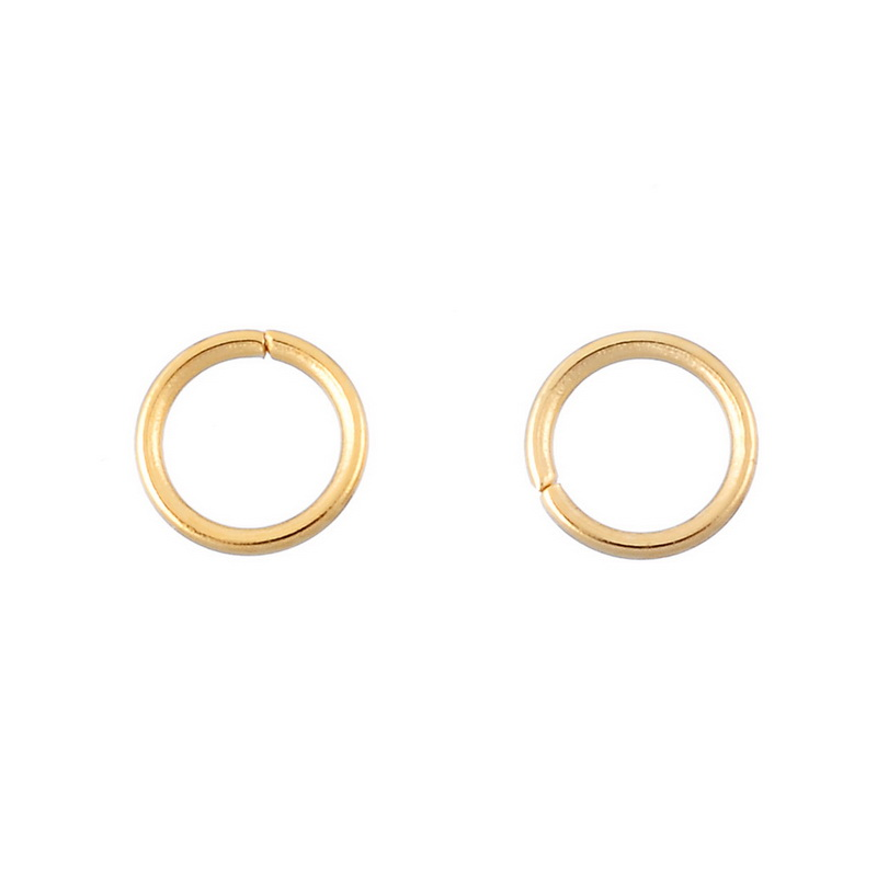 LASPERAL 30PCs Stainless Steel Gold Plated Open Spilt Jump Rings DIY Accessories For Jewelry High Quality Handmade Craft 5mm