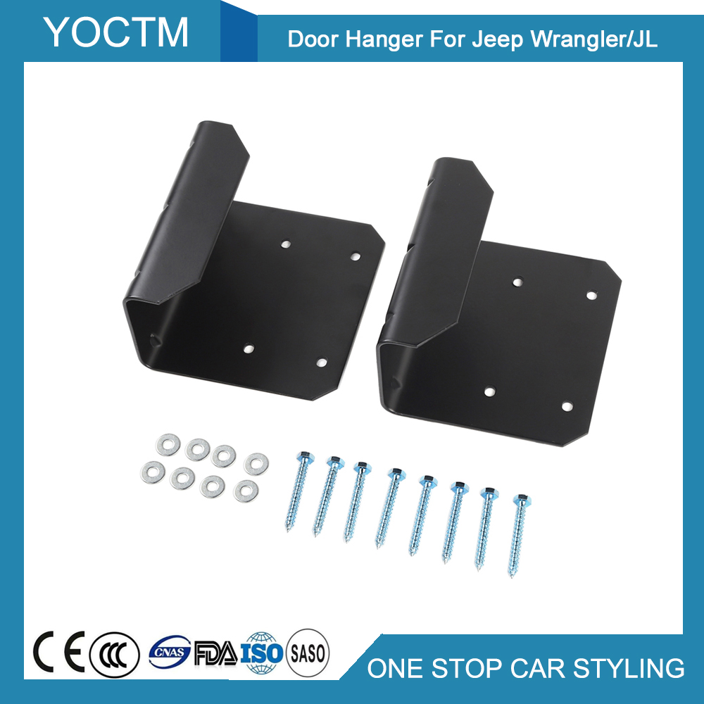 hight resolution of door hanger device modified disassembly door suspension fixing bracket for jeep wrangler jl 2011 2018 car accessories styling in interior mouldings from