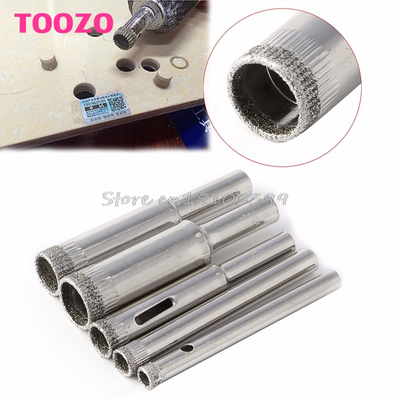 Hole Saw Drill Bits Set Tile Ceramic Cutter Glass Marble 5mm-12mm 5 Pcs Diamond #G205M# Best Quality 10pcs diamond holesaw set 8 50mm drill bit hole saw cutter for tile glass marble ceramic