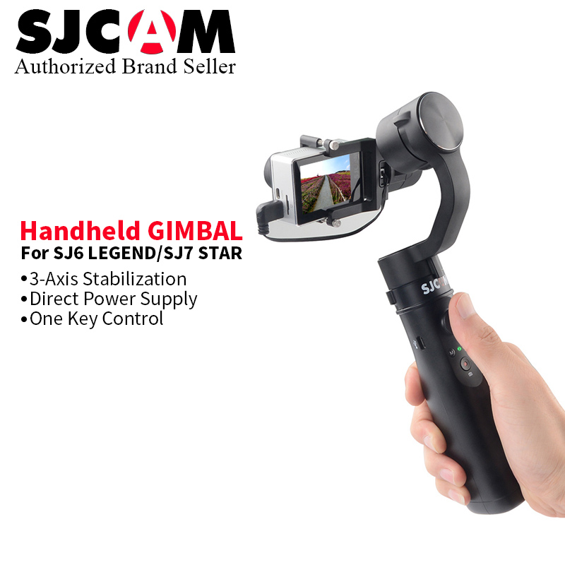 2017 SJCAM SJ 7 Star SJ6 Legend Handheld GIMBAL SJ Gimbal 3 Axis Stabilizer for
