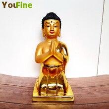 купить Handmade Buddha statue pure copper bronze crafts home decoration decorative Buddha statue craft garden sculpture Christmas gifts дешево