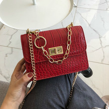 Women Messenger Bags 2019 Female Stone Leather Shoulder Bag Sac A Main Crossbody For Chains