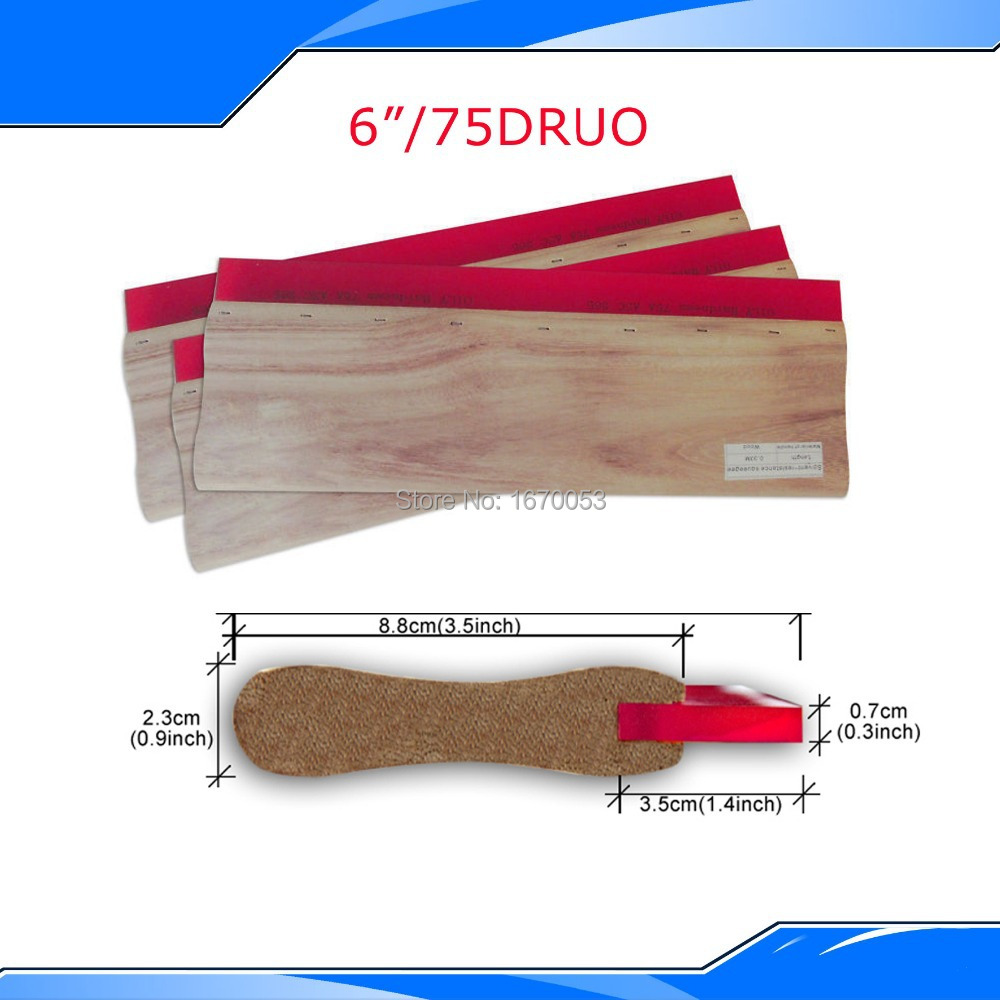 free shipping wooden handle screen printing squeegee (3x15cm) silk screen press by DHL ral swatch
