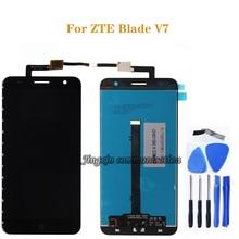 สำหรับ ZTE BLADE V7 จอแสดงผล LCD + หน้าจอสัมผัสสำหรับ ZTE V7 lcd โทรศัพท์มือถือ digitizer ส่วนประกอบทดสอบ 100% ทำงาน