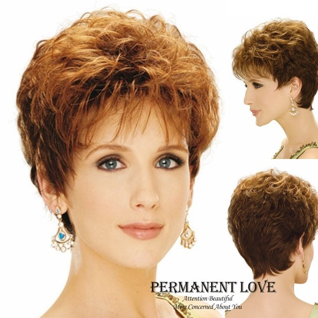 Straight short blond Wig 2015 New Chic Pixie Cut Hairstyles HeatResistant  synthetic wigs for Womens party wigs Perruque Natural 0b0125dd5c