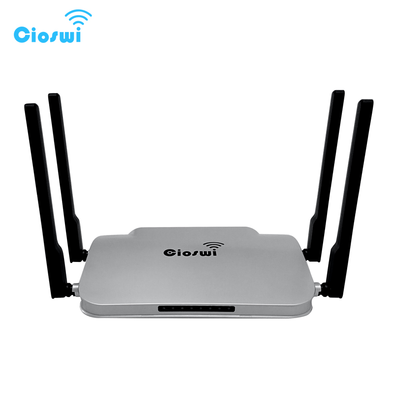 1 WAN 4 LAN Gigabit Ports Router 1200Mbps 512MB RAM, 4 5Dbi high gain antennas, dual band 2.4G+5GHz, MT7621 chipset openWRT