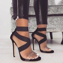 11.5cm High Heels Sandalias Sexy Shoes 2020 Women Sandals Op