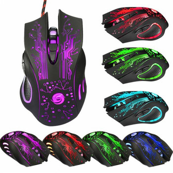 6 Button 5500 DPI LED Optical USB Wired Gaming PRO Mouse Mice For PC Laptop Computer Mice