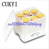 CUKYI 250W Mini Drying Fruit Machine Household Dehydrating Machine Ruit Vegetable Pet Meat Flowers Dryer Five