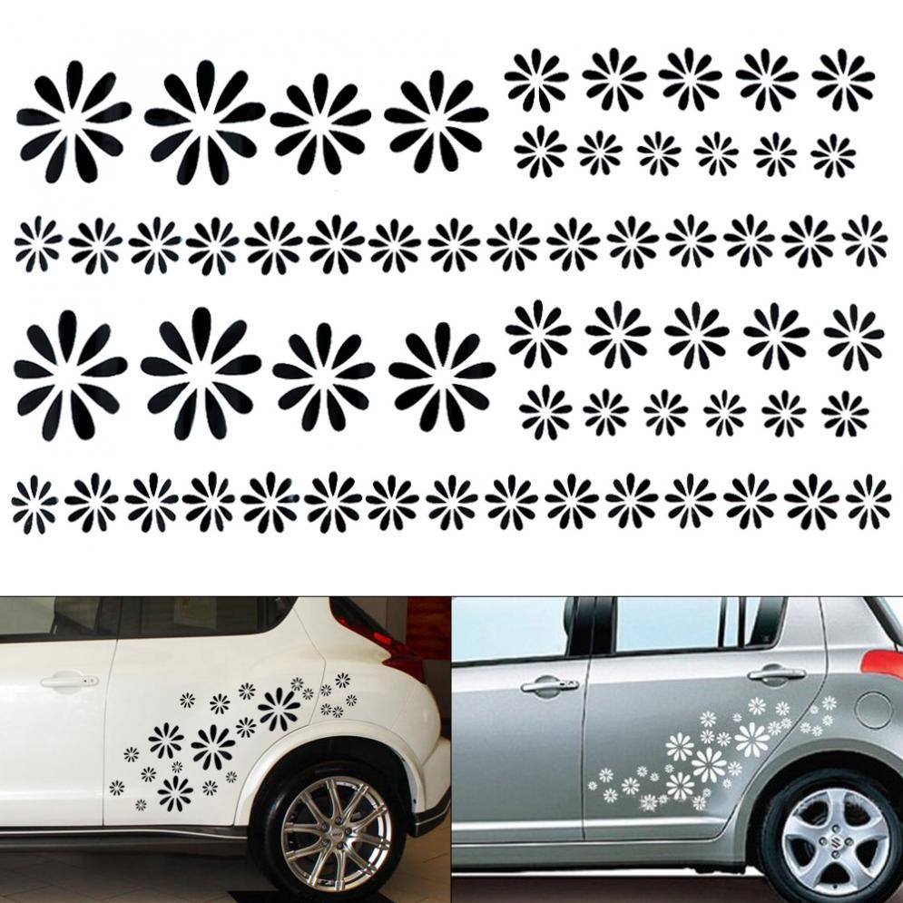 Trucks Laptops Etc Flower Vinyl Decal Sticker Cars Decal Savers TM White- Die Cut Decal Bumper Sticker For Windows