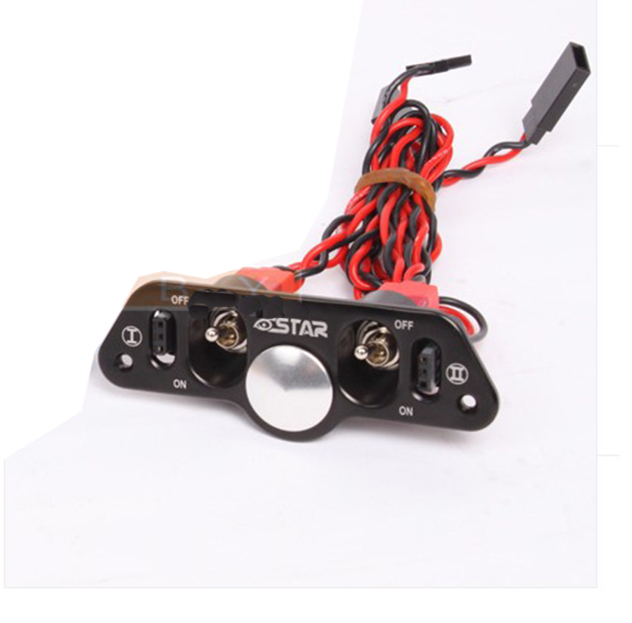 F08027 Brand Heavy Duty Metal Dual Power Switch with Fuel Dot Black for RC Helicopter Car Boat Aircraft Engine Part hand fuel pump for 480n fuel helicopter rc drone rc car