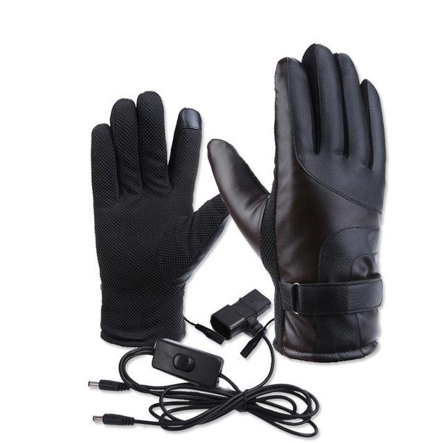 CAR-partment Motocycle Outdoor Sport Waterproof 12-72V PU Leather Winter Warm Heated
