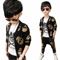Boy S Suit Spring Autumn Fitted New Type Of Personality Boys Skeleton Head Long Sleeve Haren