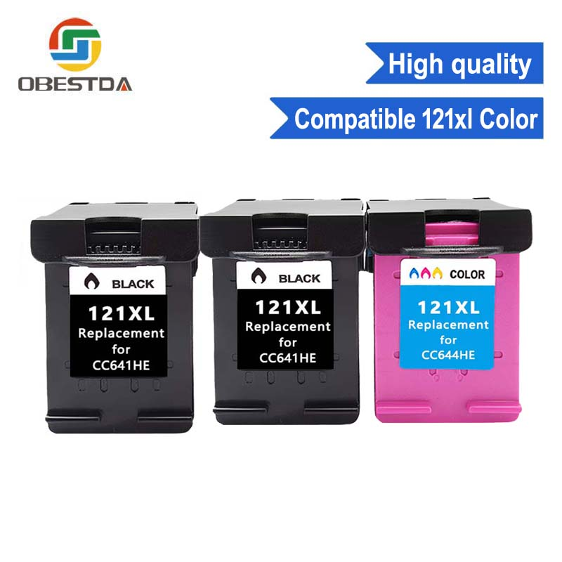 Compatible black 121XL ink replacement for hp 121 XL cartridge for Deskjet D2563 F4283 F2423 F2483 F2493 F4213 F4275 F4283 F4583Compatible black 121XL ink replacement for hp 121 XL cartridge for Deskjet D2563 F4283 F2423 F2483 F2493 F4213 F4275 F4283 F4583